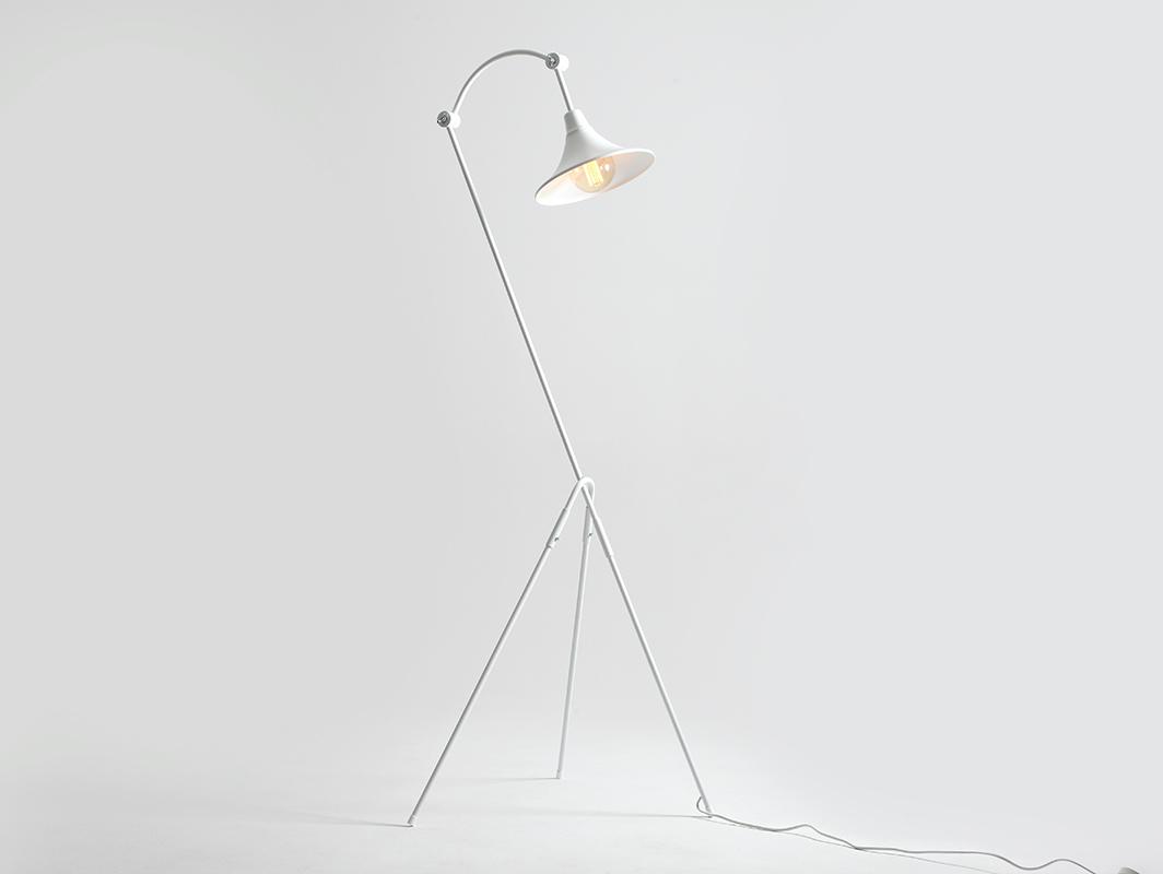 Lampa podłogowa MILLER FLOOR - biały