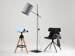 Lampa podłogowa HOBBIT FLOOR I - szary small 1
