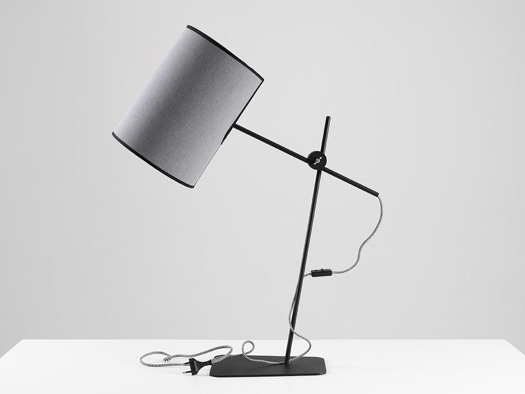 Lampa biurkowa HOBBIT TABLE I - szary