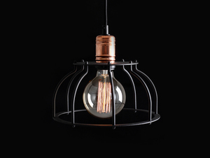 Lampa wisząca WORKER FAT - czarny small 4