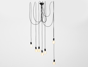 Lampa wisząca SPINNE 7 - czarny small 0