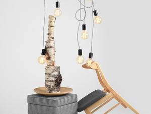 Lampa wisząca SPINNE 7 - szary small 1