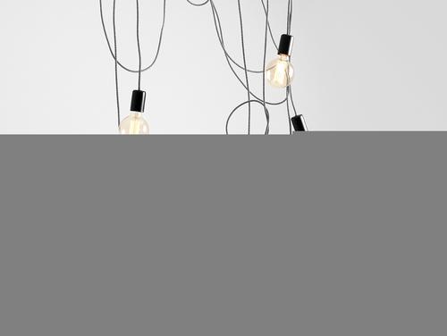 Lampa wisząca SPINNE 7 - szary