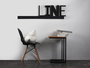 Lampa ścienna LINE WALL LED L - grafitowy small 1
