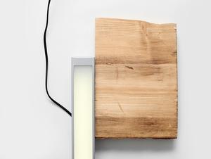 Plafon LINE LED S - srebrny small 1