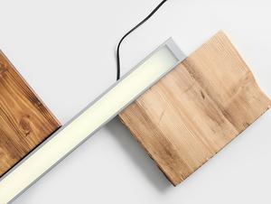 Plafon LINE LED S - srebrny small 2