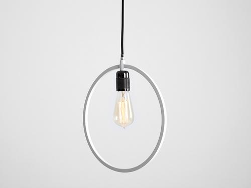 Lampa wisząca VETO pojedyncza biała okrągła