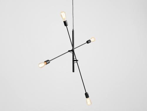 Lampa wisząca TWIGO 4 - czarny