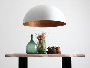 Lampa wisząca LORD 90 - miedziano-biały small 1
