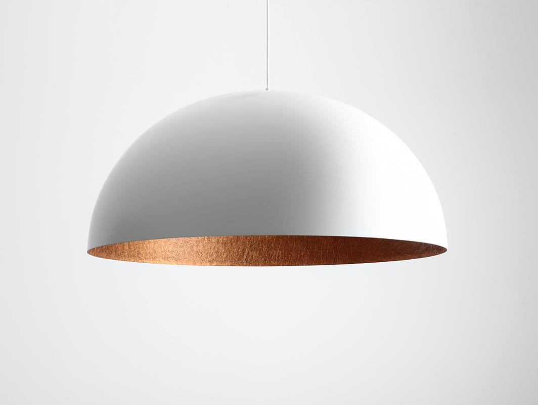 Lampa wisząca LORD 90 - miedziano-biały