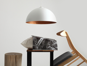 Lampa wisząca LORD 50 - miedziano-biały small 1