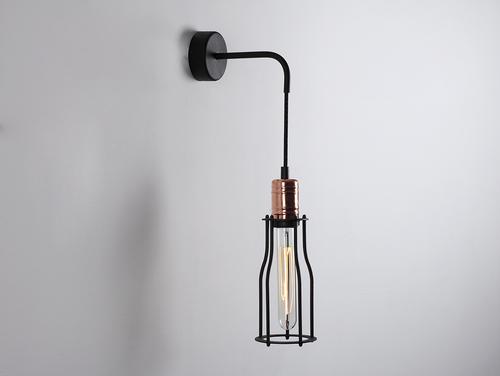 Lampa ścienna WORKER TALL WALL - czarny