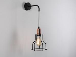 Lampa ścienna WORKER WIDE WALL - czarny small 0