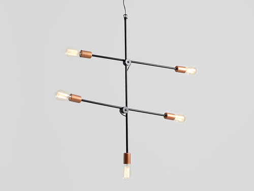 Lampa wisząca SECTO 5 - czarny