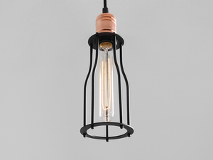 Lampa wisząca WORKER TALL - czarny small 1