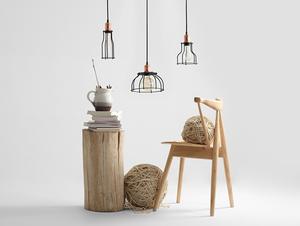 Lampa wisząca WORKER TALL - czarny small 2