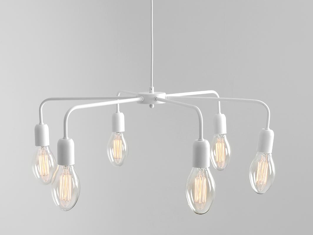 Lampa wisząca CROSER 6 - biały