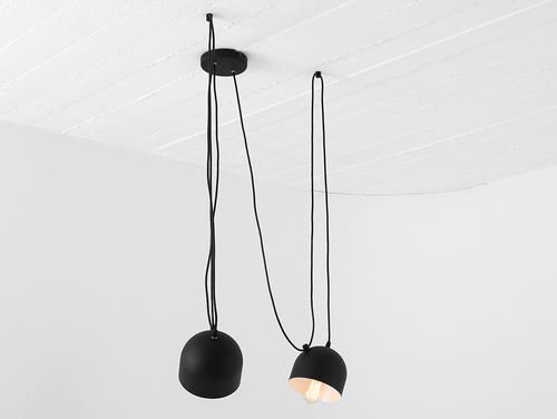 Lampa wisząca POPO 2 - czarny