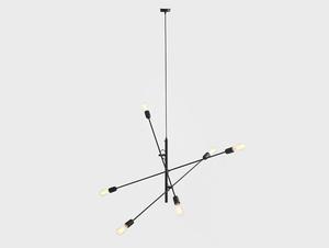 Lampa wisząca TWIGO 6 - czarny small 3