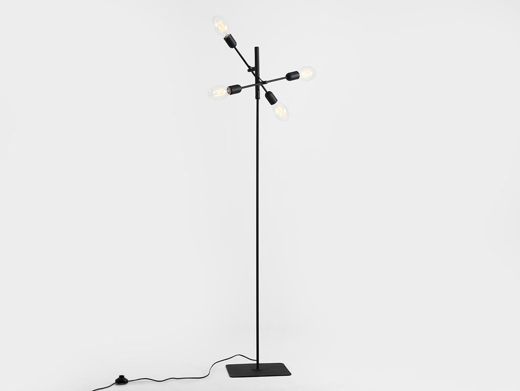 Lampa podłogowa TWIGO FLOOR 4 - czarny
