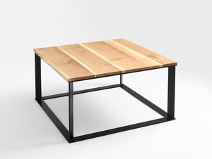 Stół kawowy SKADEN SOLID WOOD 100x100 small 3