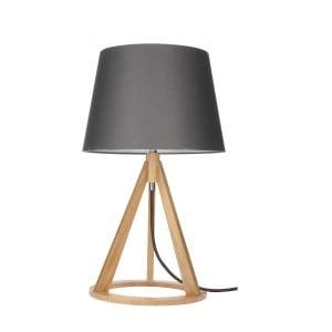 Lampa stołowa Konan dąb/antracyt/antracyt E27 25W
