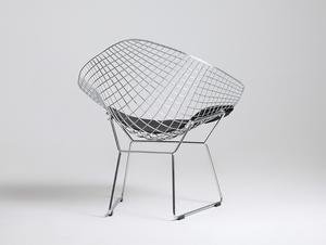 Krzesło DIAMENT - srebrny, poducha czarna small 2