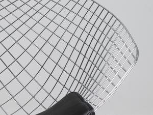 Krzesło DIAMENT - srebrny, poducha czarna small 4