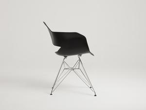 Krzesło MATCH ARMS METAL - czarny small 3