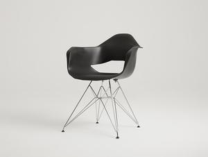 Krzesło MATCH ARMS METAL - czarny small 0