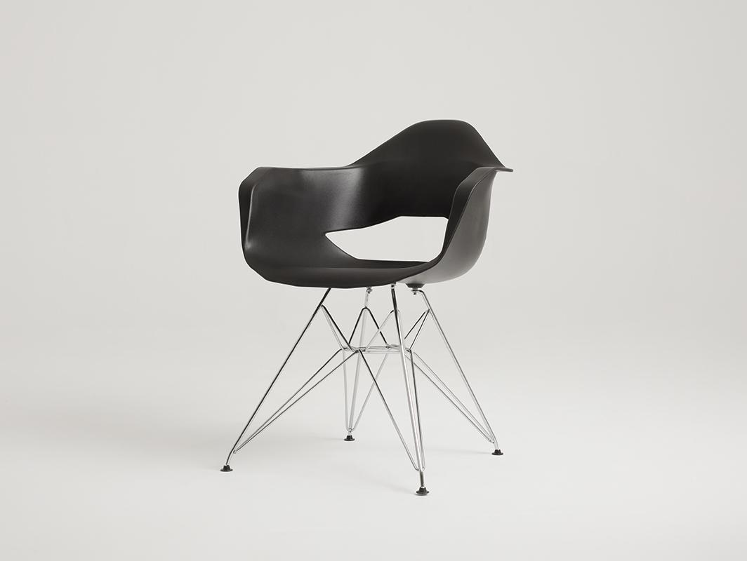 Krzesło MATCH ARMS METAL - czarny