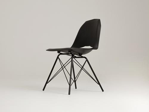 Krzesło MATCH METAL BLACK - czarny