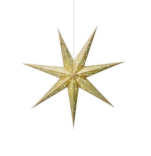 ELIN Papierowa gwiazda złoty oraz zielony
