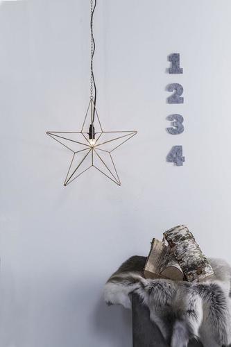 TJUSA Stojąca dekoracja 42cm E14 Golden
