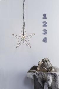 TJUSA Stojąca dekoracja 42cm E14 Golden small 0