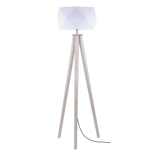 Lampa podłogowa Finja dąb/antracyt/biały E27 60W