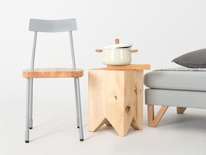 Krzesło LENA - srebrny, naturalny small 1