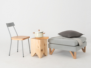 Krzesło LENA - srebrny, naturalny small 2