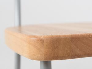Krzesło LENA - srebrny, naturalny small 4