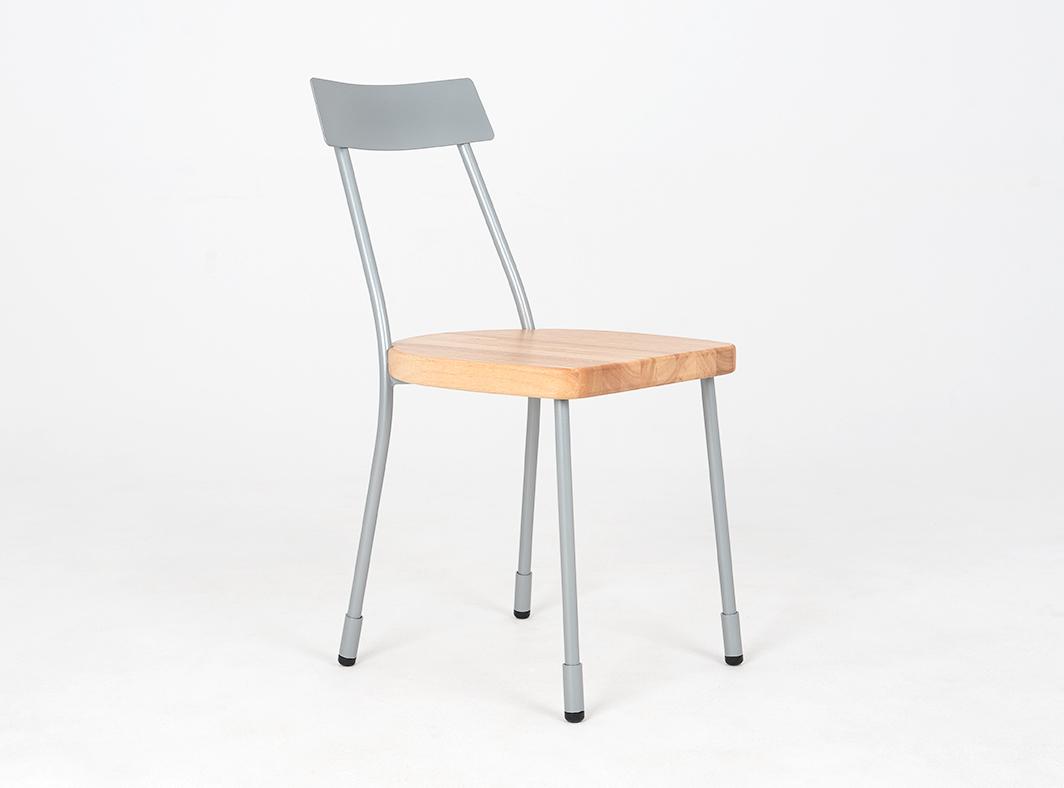Krzesło LENA - srebrny, naturalny
