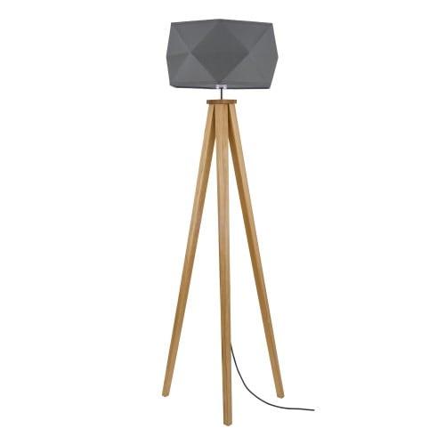Lampa podłogowa Finja dąb/antracyt/antracyt E27 60W