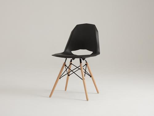 Krzesło MATCH WOOD - czarny