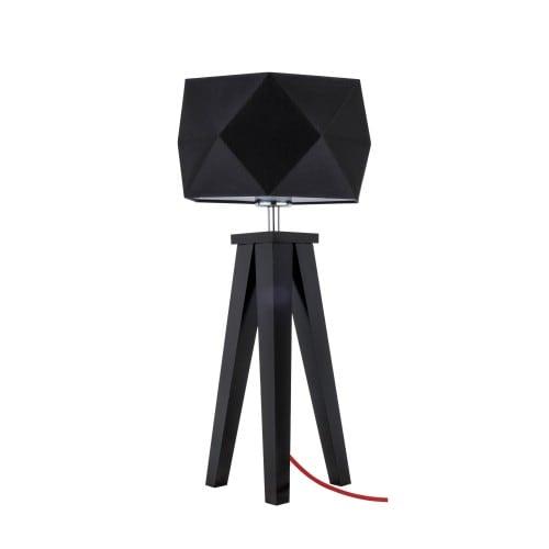Lampa stołowa Finja czarny/czerwony/czarny E27 60W