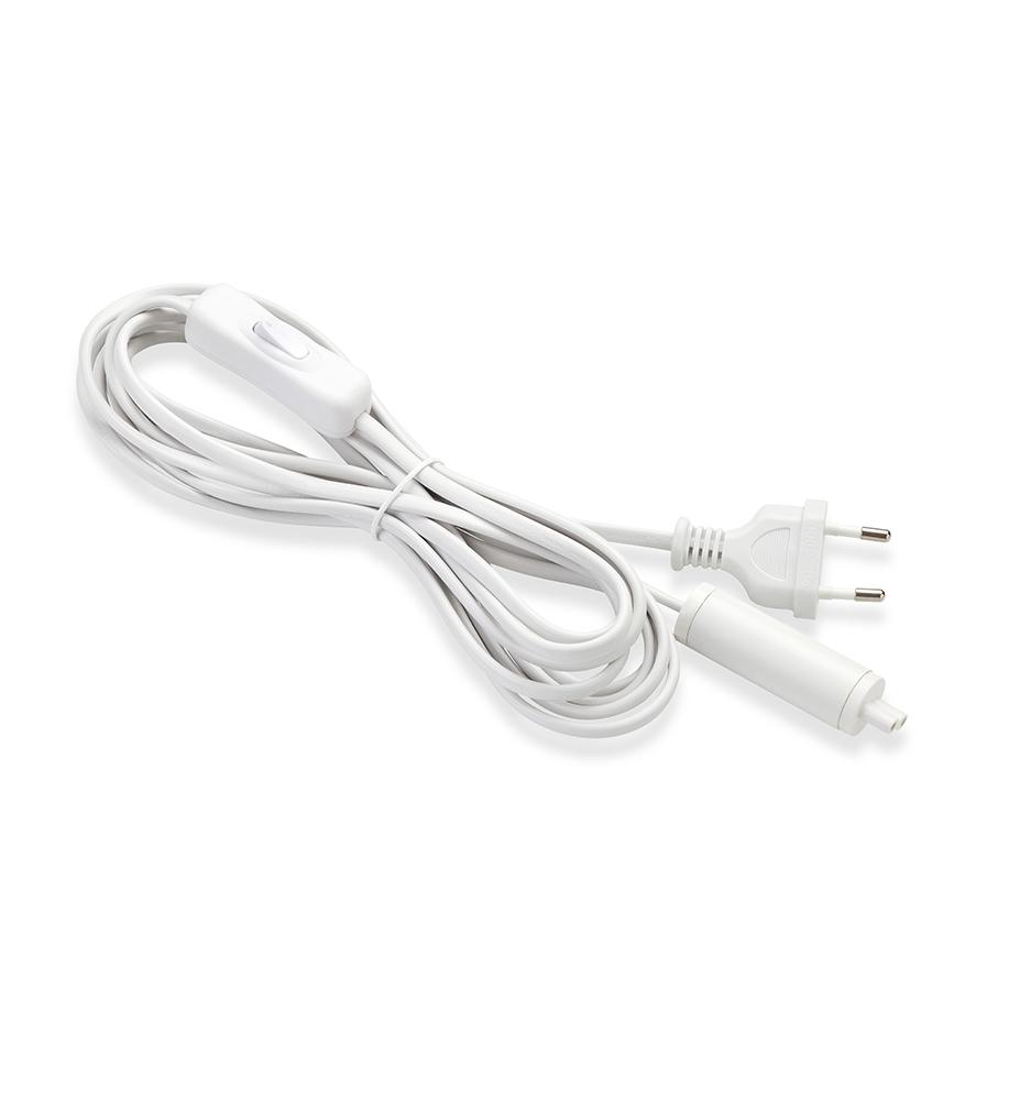 EXPAND Start cable 3,5m Wallplug+Switch White