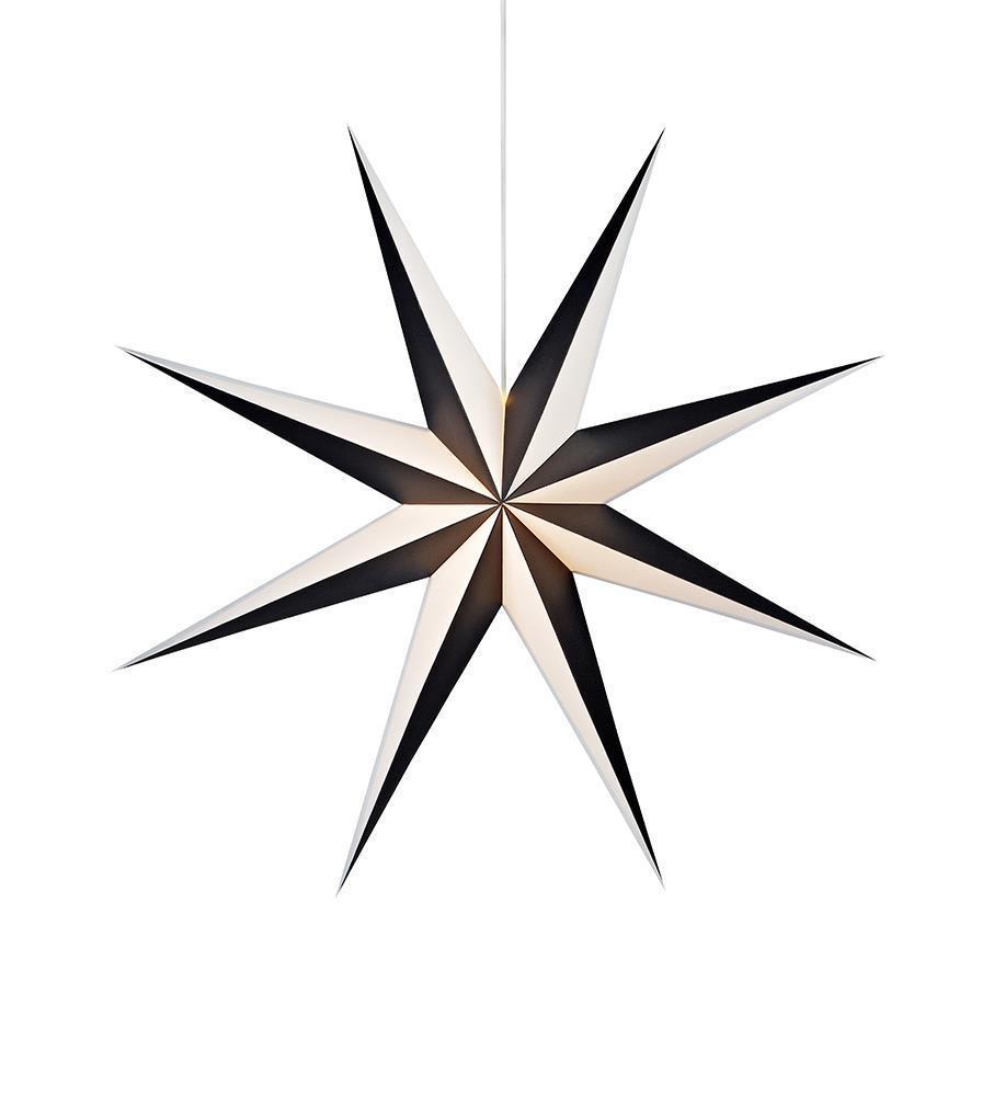 ALVA wisiorek papierowa gwiazda 75 Black White