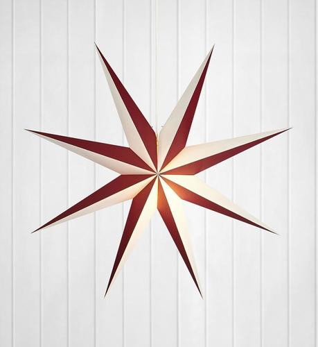 ALVA papierowa gwiazda wisiorek 75 E14 Wine / White