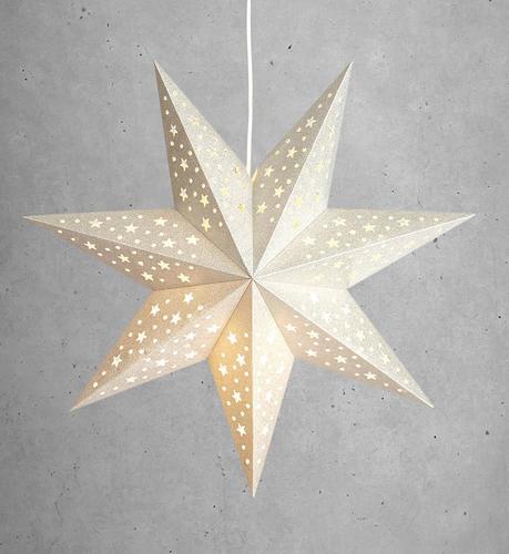 SOLVALLA gwiazda papierowa wisiorek srebrny
