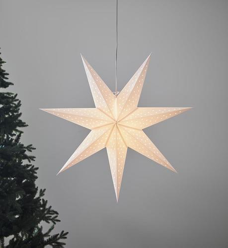 CLARA wisiorek biały Gwiazda 75cm