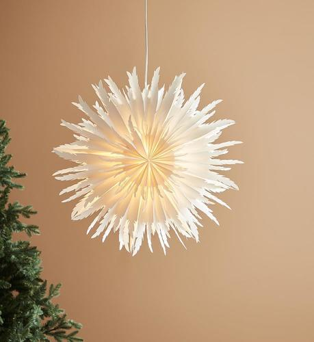 LILLY papierowa gwiazda 61,5cm biały
