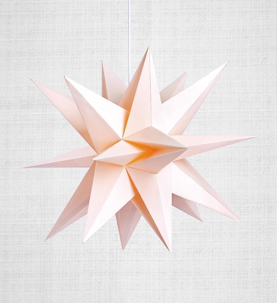 Skillinge 3D papierowa gwiazda Różowy